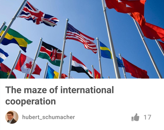 Flags of All Counties - International Cooperation
