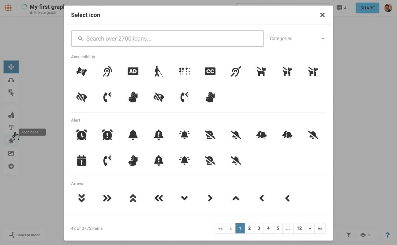 Icon Collection for Mind Map Building