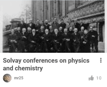 Old Black & White Picture from Solvay Conferences
